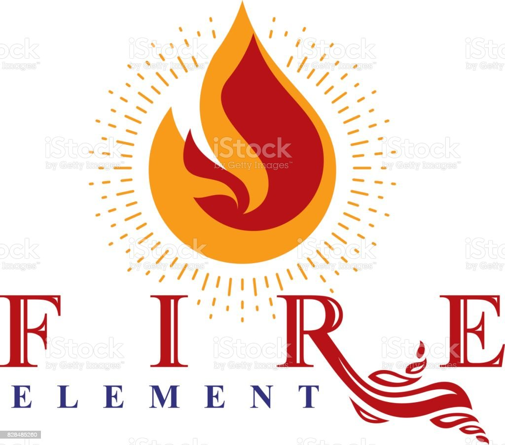 Fire element abstract symbol for use as petrol corporate emblem fire element abstract symbol for use as petrol corporate emblem oil and gas vector business biocorpaavc Gallery