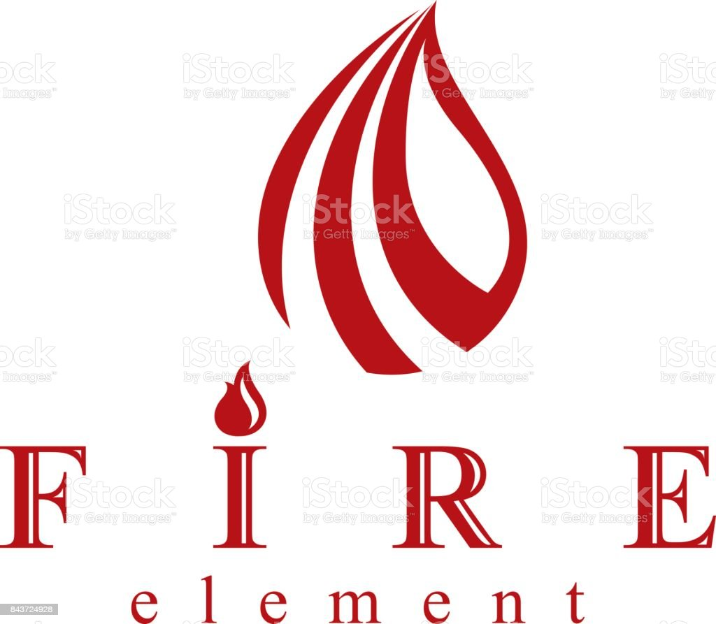 Fire Element Abstract Symbol For Use As Petrol Corporate Emblem Oil