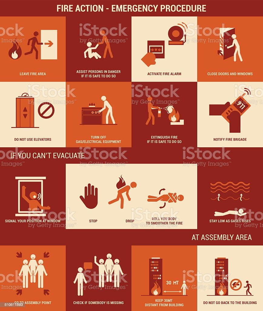 Fire emergency vector art illustration