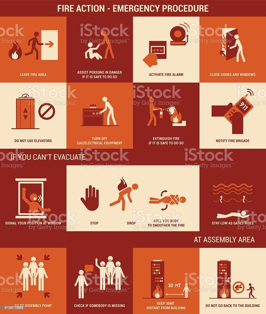 Fire emergency vector art illustration