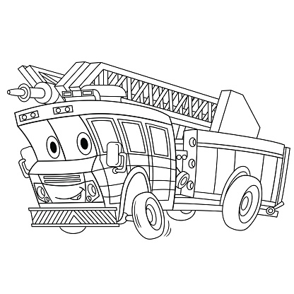 Fire Engine Coloring Stock Illustration Download Image Now Istock
