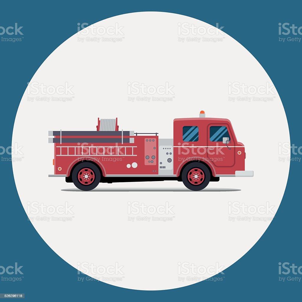 Огненный, Пожарная машина векторная иллюстрация