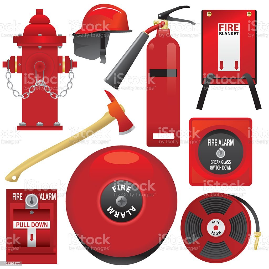 Fire Equipment vector art illustration