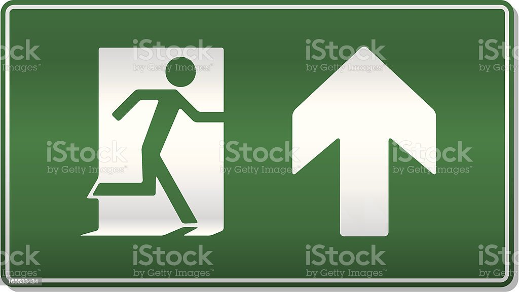 Fire exit ahead royalty-free stock vector art