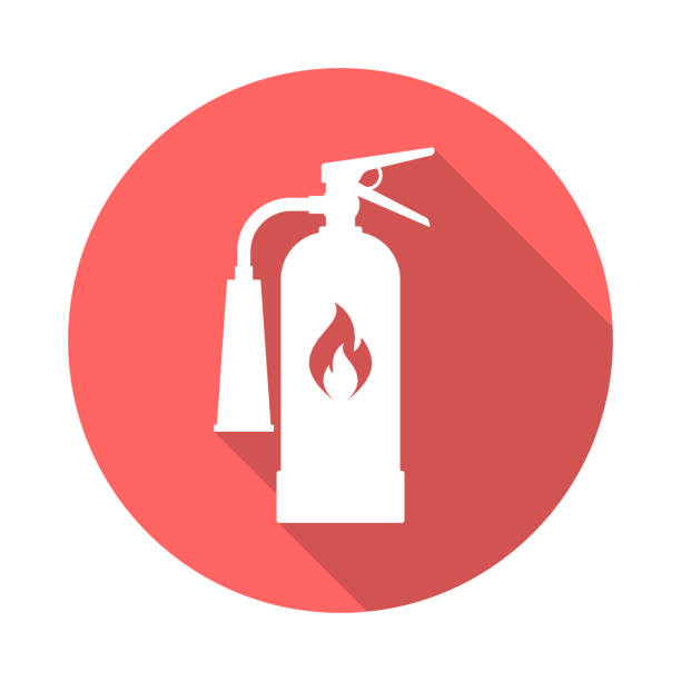 Royalty Free Cartoon Of A Symbol For Fire Extinguisher Clip Art