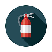 Fire Extinguisher Flat Design April Fools Day Icon
