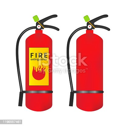 Fire extinguisher icon on a white background.
