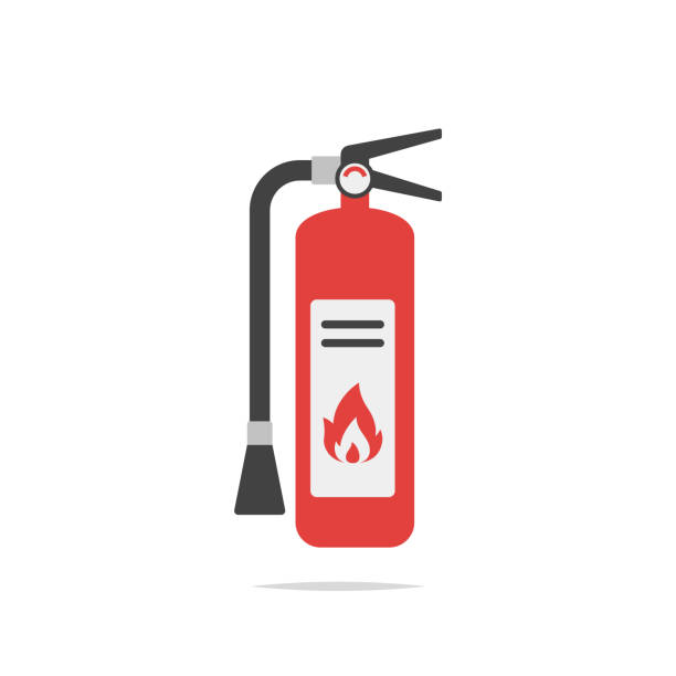 Fire extinguisher icon vector Vector element emergency equipment stock illustrations