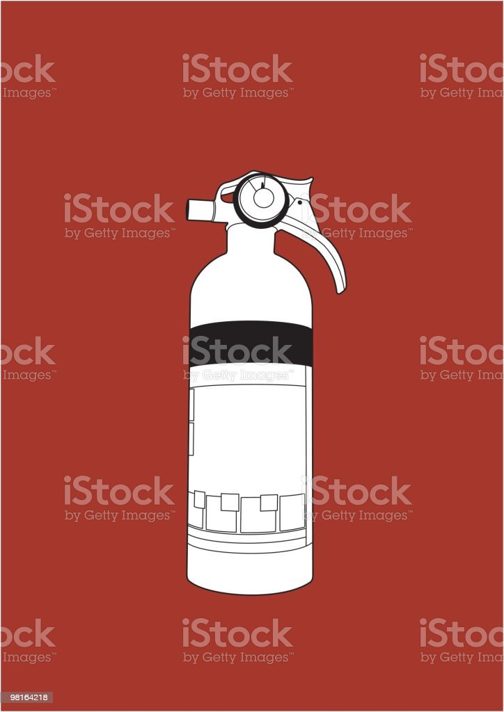 Fire Extinguisher illustration royalty-free fire extinguisher illustration stock vector art & more images of can