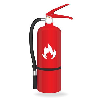 Fire extinguisher isolated on white background. Vector illustration.