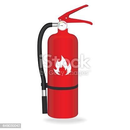 Fire extinguisher isolated on white background. Vector illustration