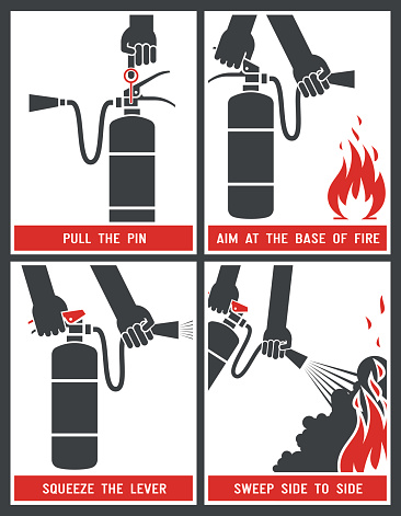 Fire extinguisher label.