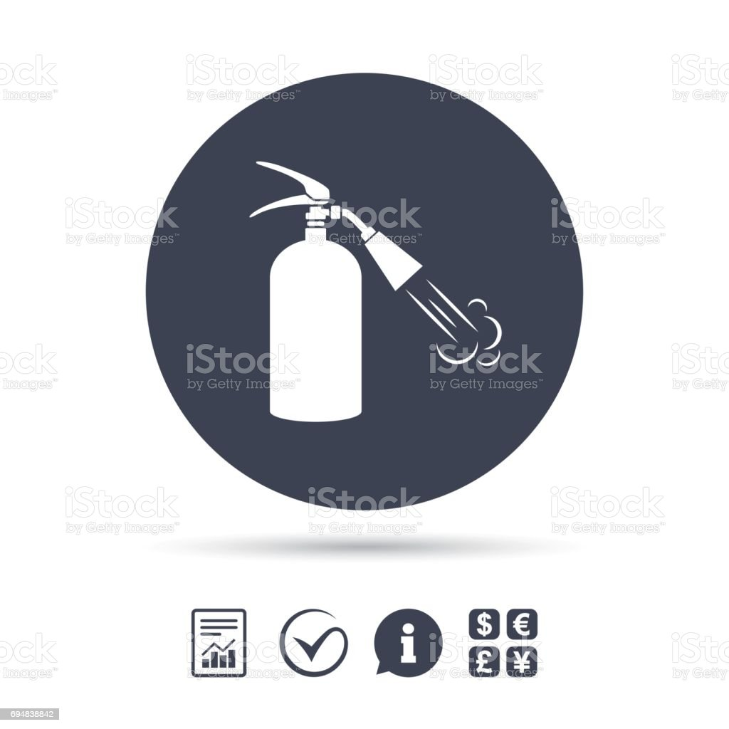 Fire Extinguisher Sign Icon Fire Safety Symbol Stock Vector Art