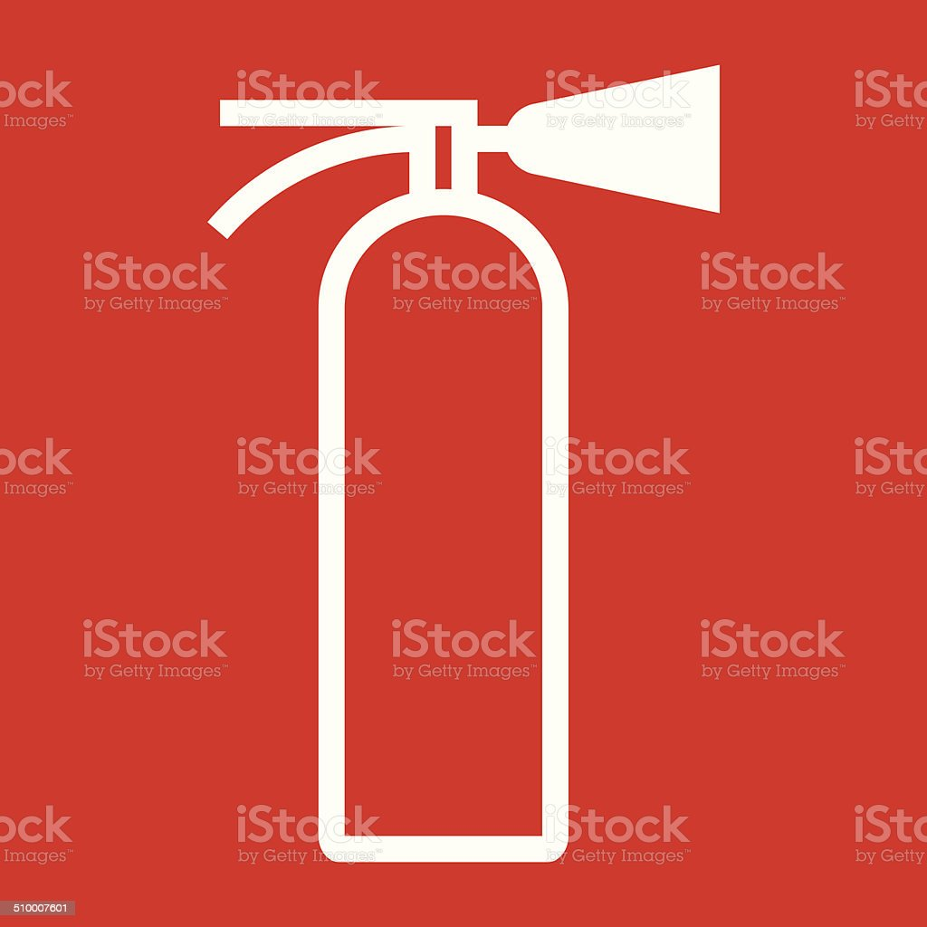 fire extinguisher sign stock vector art amp more images of
