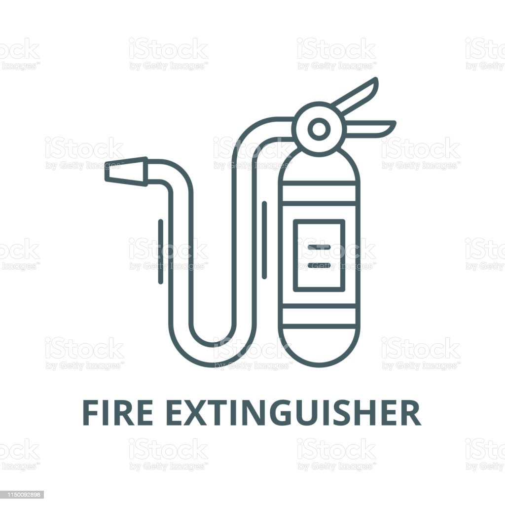 Fire Extinguisher Vector Line Icon Linear Concept Outline