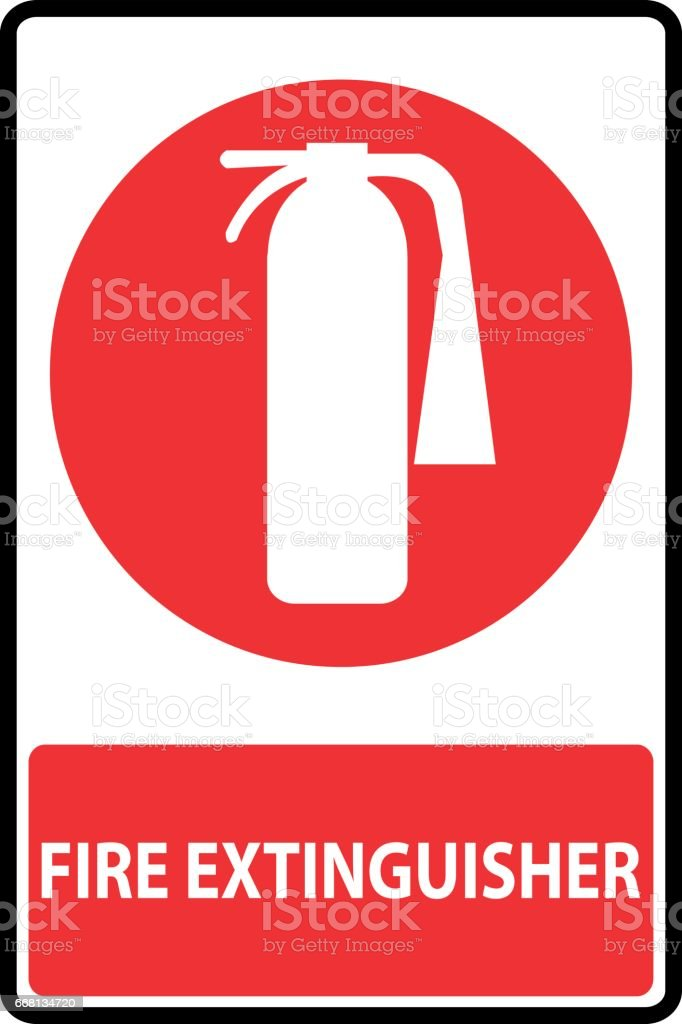 royalty free fire extinguisher sign clip art vector