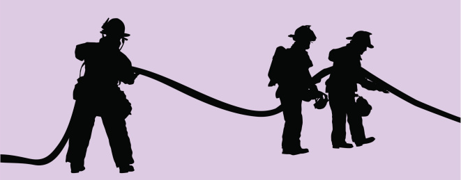 Fire Fighters at Work ( Vector )