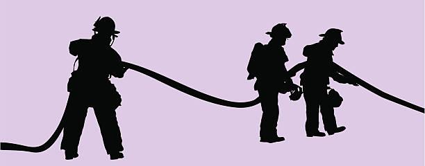 ilustraciones, imágenes clip art, dibujos animados e iconos de stock de fuego soldados en el trabajo (vector - bombero
