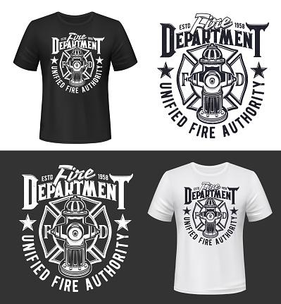 Fire, firefighters department t-shirt print mockup
