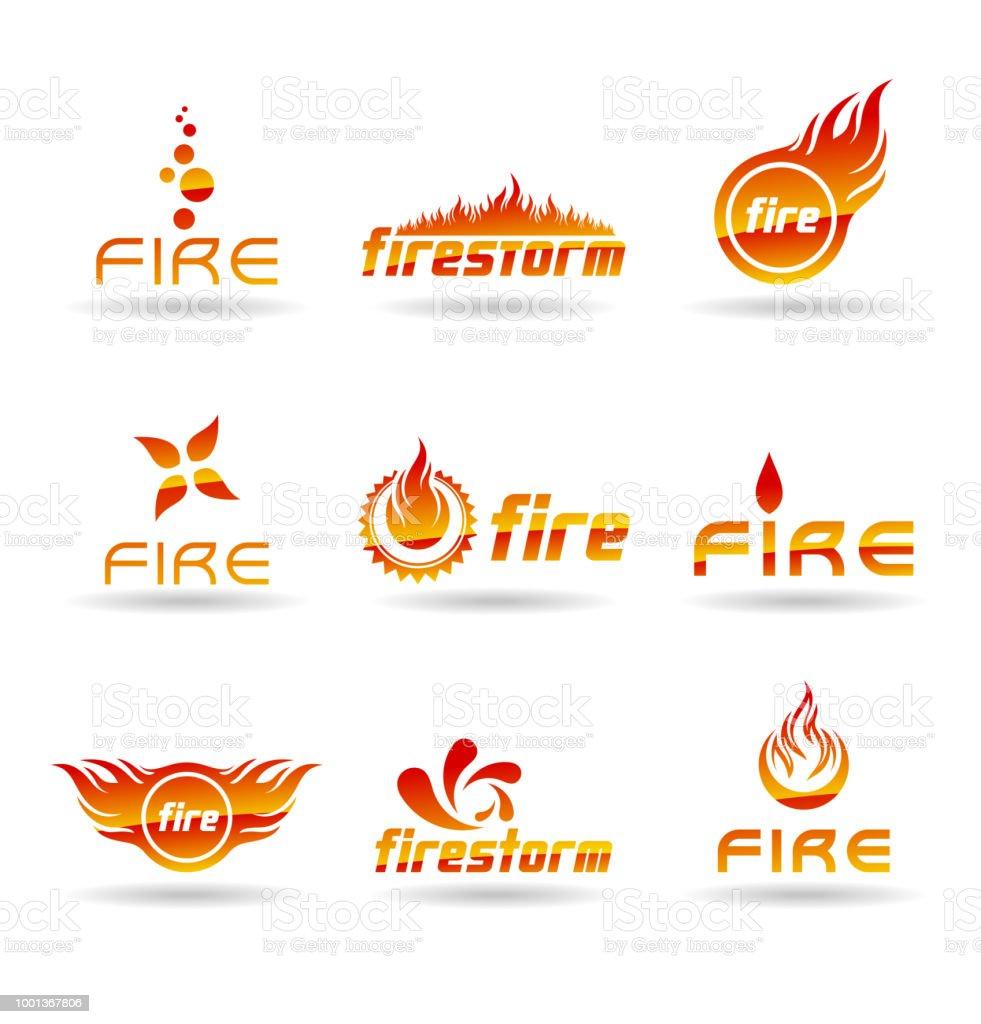 Fogo, fogo e queima - ilustração de arte em vetor