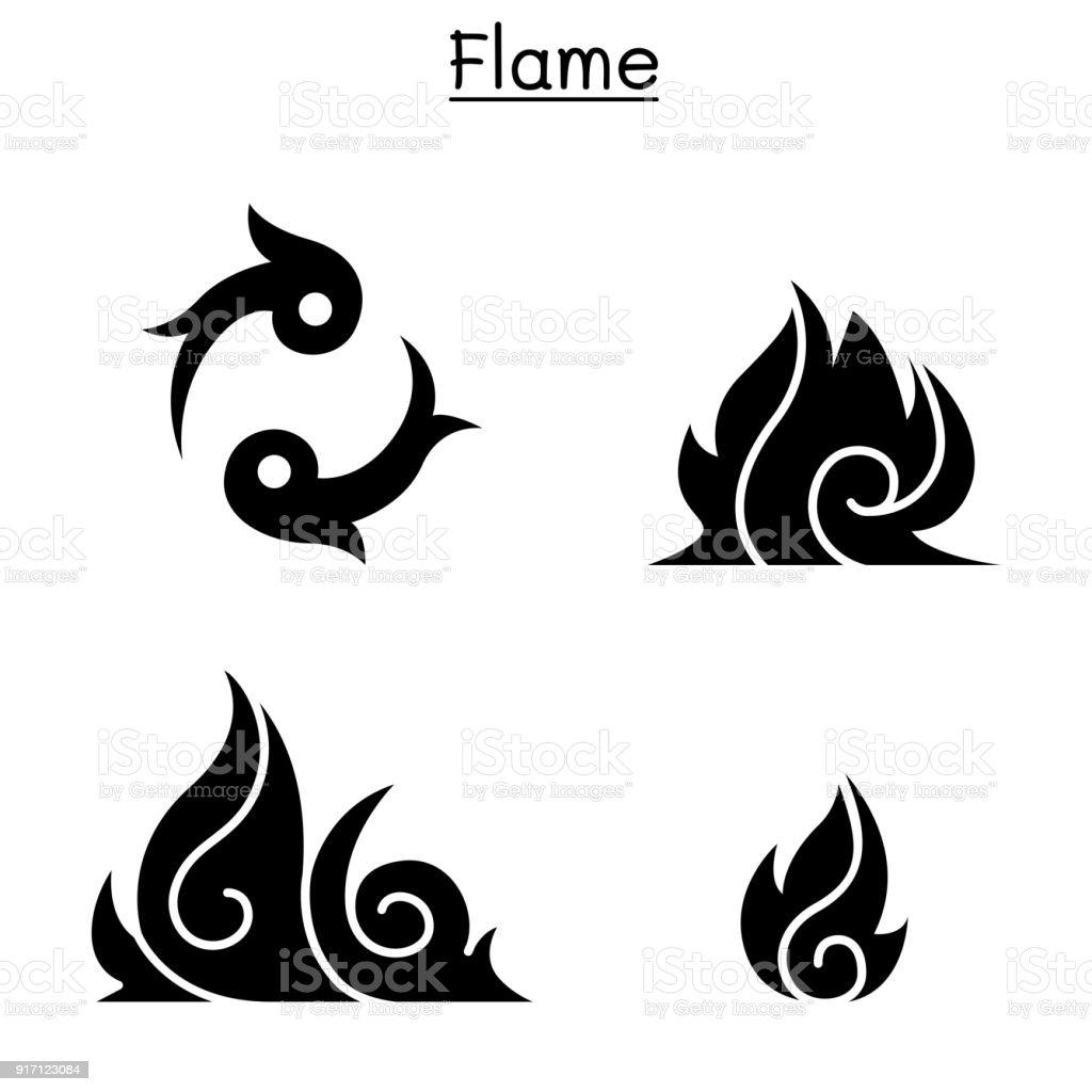 Ateş Alev Yanık Vektör çizim Grafik Tasarım Stok Vektör Sanatı