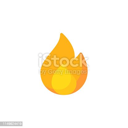 Fire, Flame Flat Icon.