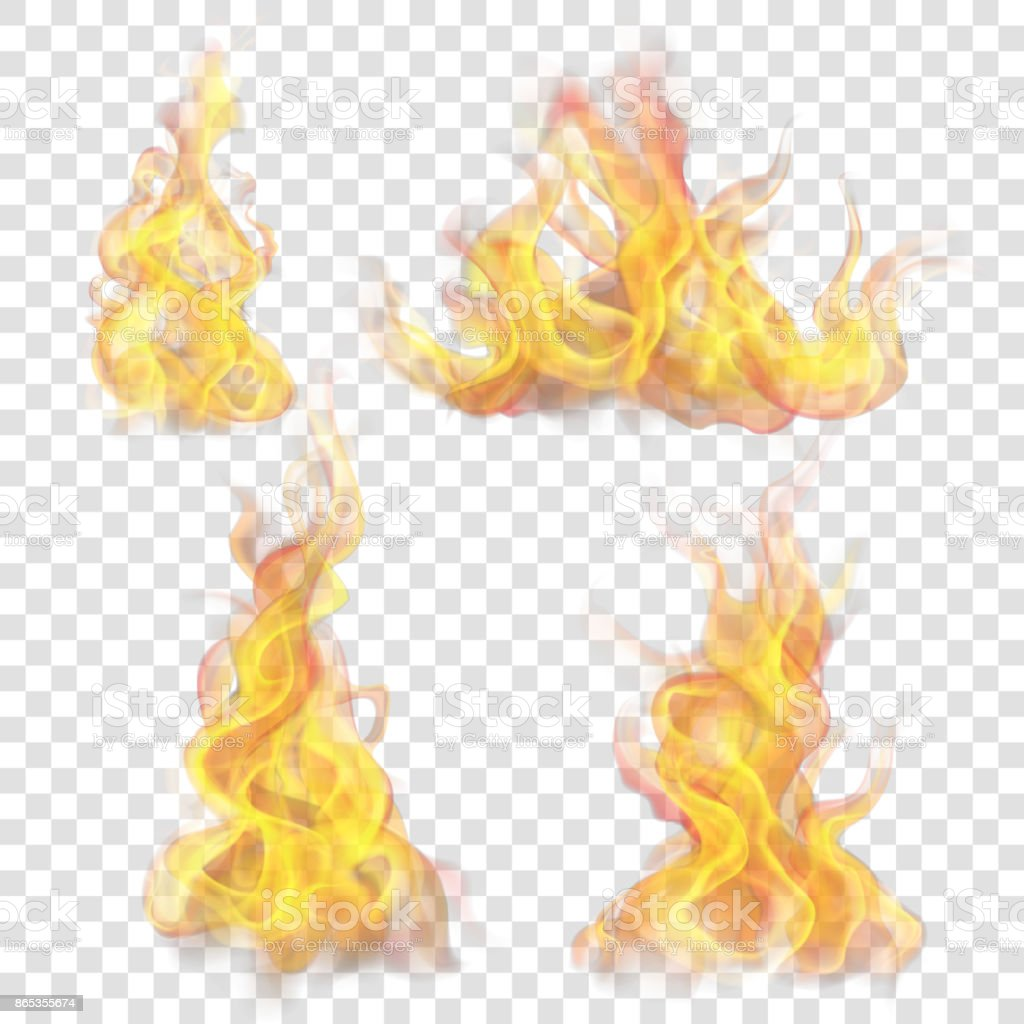 Fire flame for light background