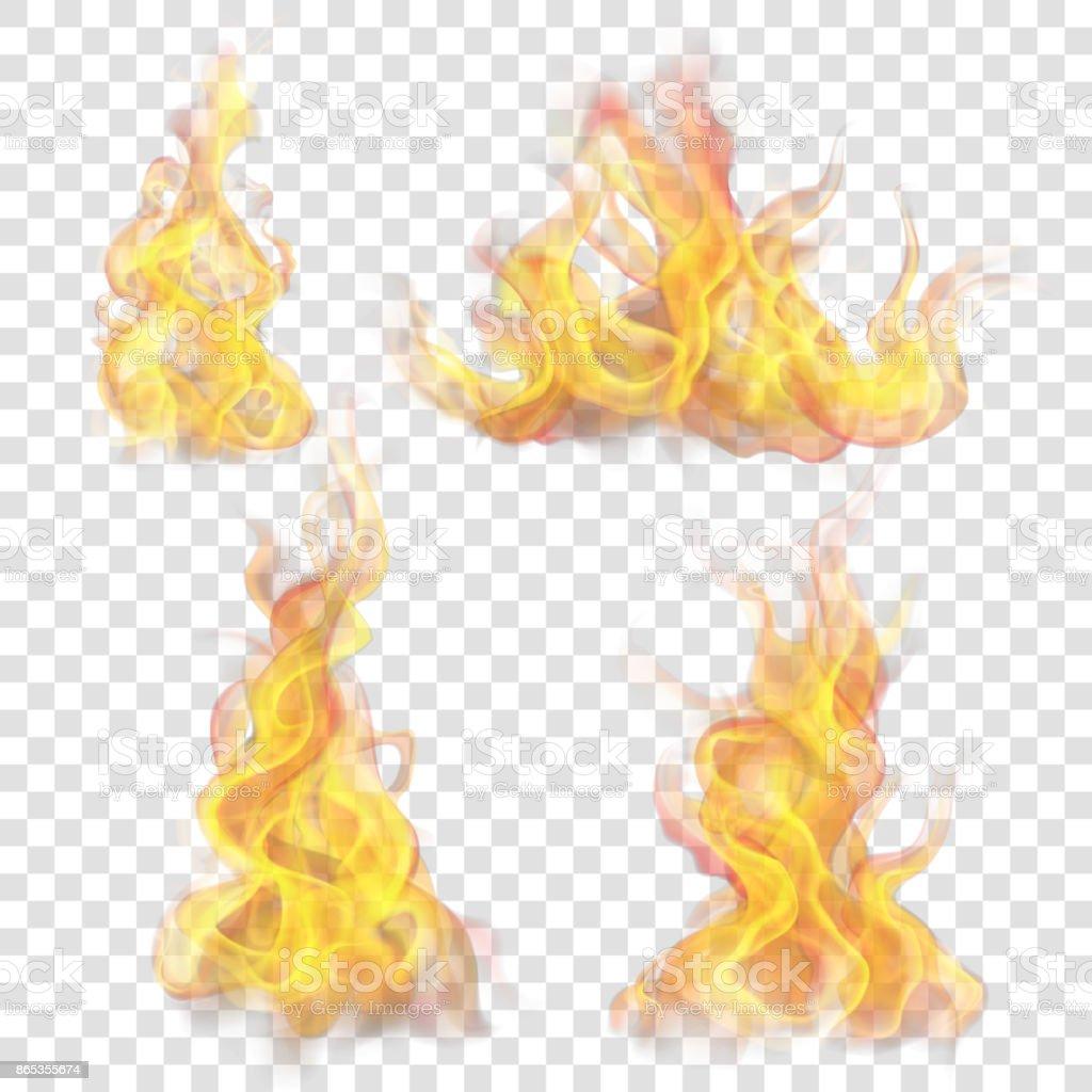 Fire flame for light background vector art illustration