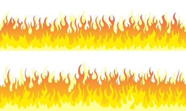 illustrations, cliparts, dessins animés et icônes de bordures de cadre feu flamme - flamme