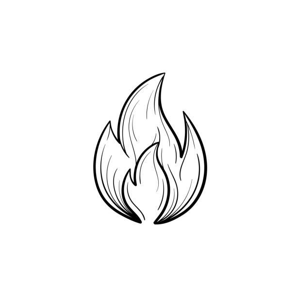 Flamme Dessin Vectoriels Et Illustrations Libres De Droits