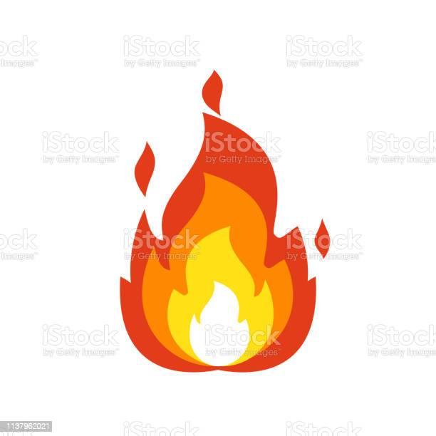 Icône De Flamme De Feu Signe De Feu De Joie Isolé Symbole De Flamme Émoticône Isolé Sur Fond Blanc Illustration De Feu Emoji Et Logo Vecteurs libres de droits et plus d'images vectorielles de Allumer