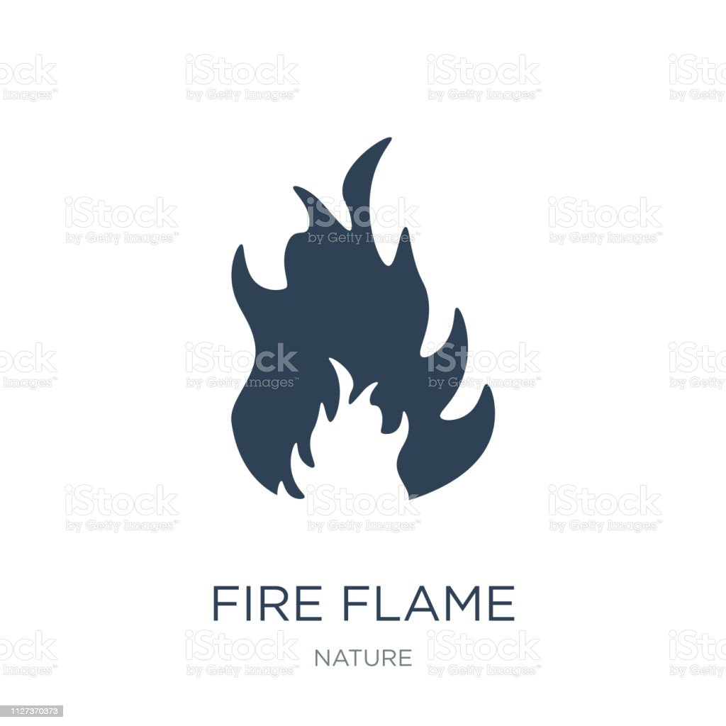 fire flame icon vector on white background, fire flame trendy filled...