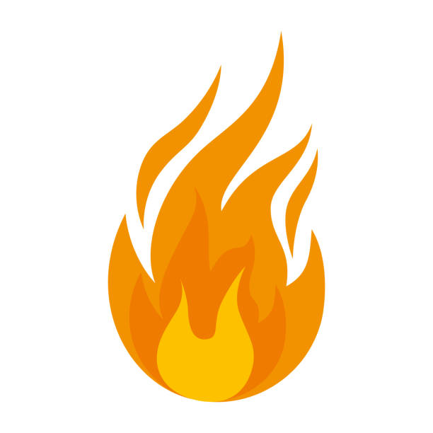 fire flame isolated icon - fire stock illustrations