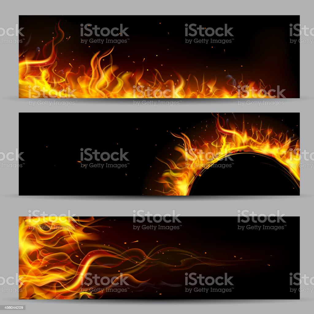 Fire Flame Template vector art illustration