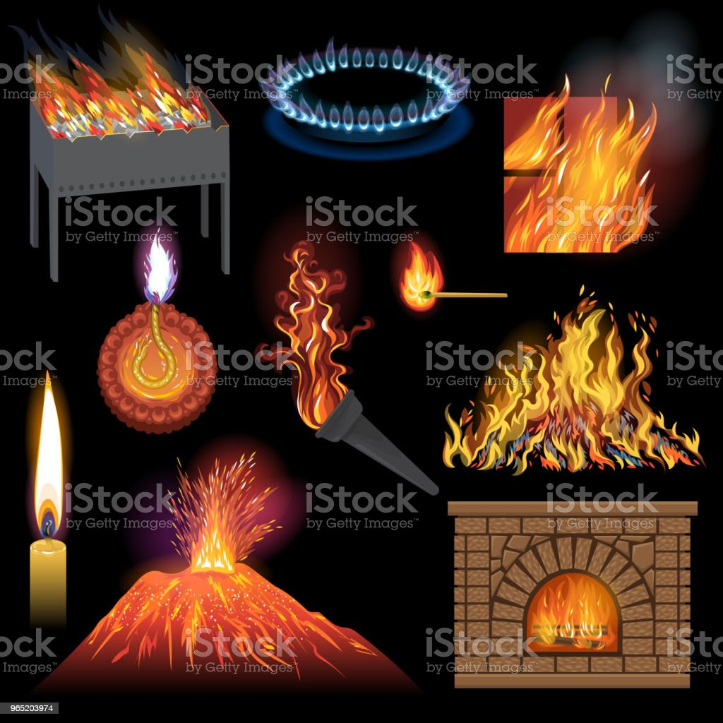 Fire flame vector fired flaming bonfire in fireplace and flammable campfire illustration fiery or flamy set of torchlight or lighting flambeau wildfire isolated on black background fire flame vector fired flaming bonfire in fireplace and flammable campfire illustration fiery or flamy set of torchlight or lighting flambeau wildfire isolated on black background - stockowe grafiki wektorowe i więcej obrazów barbecue royalty-free