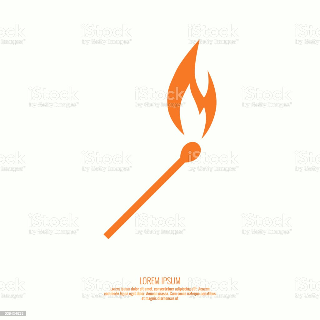Fire flames. Icon. vector art illustration