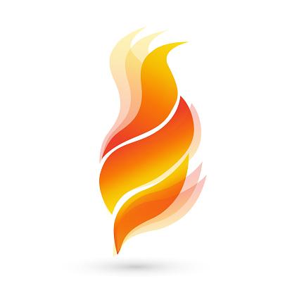 Brand Vlammen Pictogram Stockvectorkunst en meer beelden van Aansteken