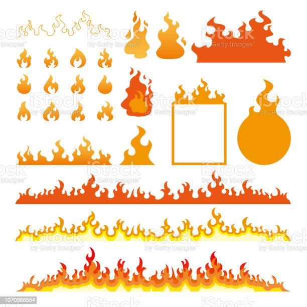 火災炎白いベクトル図で隔離のアイコンを設定 - アイコンのベクターアート素材や画像を多数ご用意