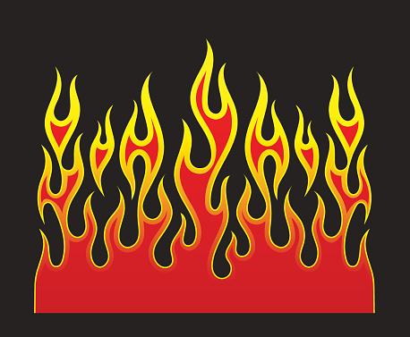 Fire tattoo stock illustrations