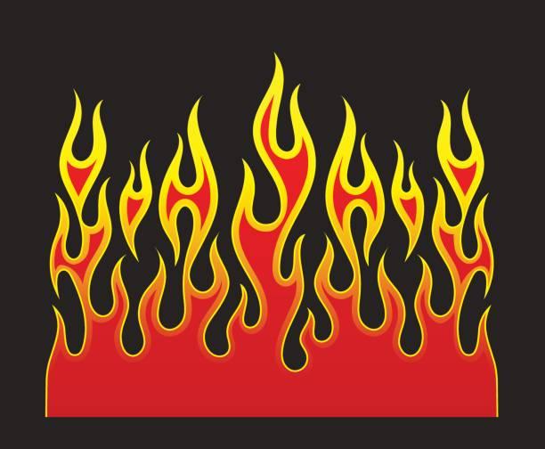 火災炎ベクトル要素 - 炎のタトゥー点のイラスト素材/クリップアート素材/マンガ素材/アイコン素材