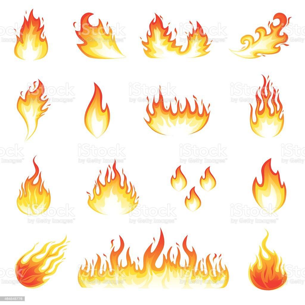 Fire Flames vector art illustration