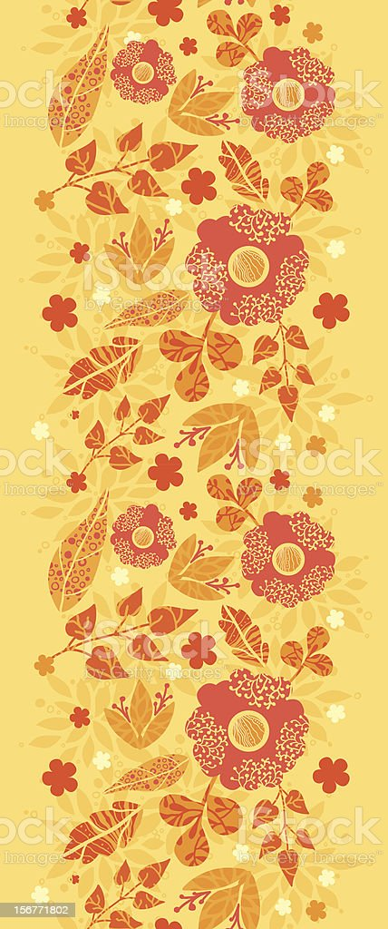 Fire Flowers Vertical Seamless Border royalty-free stock vector art