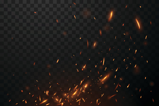 Fire flying sparks