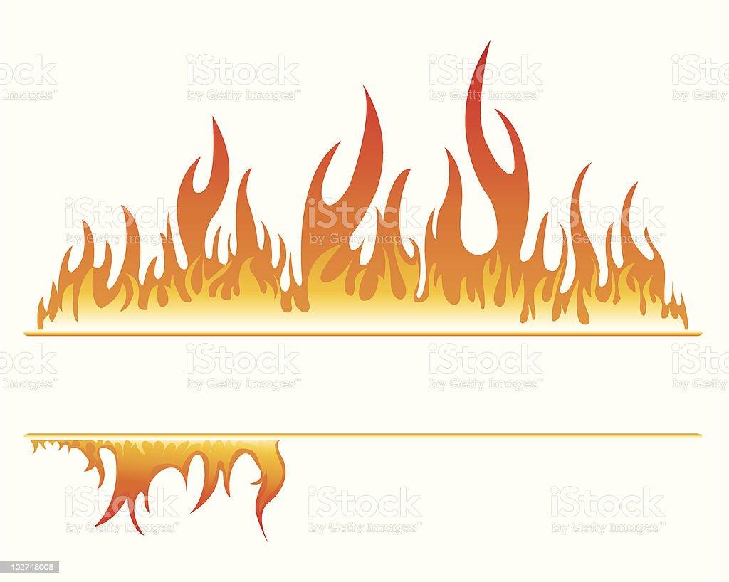 Fire Frame royalty-free stock vector art