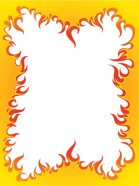 Top 60 Flame Border Clip Art, Vector Graphics and ...