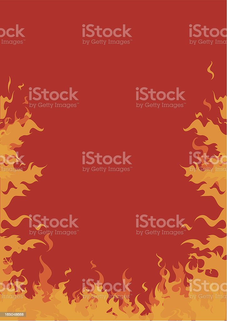 Fire Frame - Vector royalty-free stock vector art