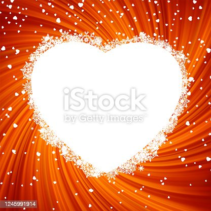 Fire heart frame. EPS 8 vector file included