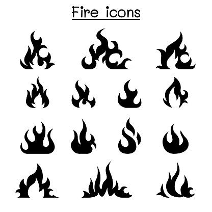 Fire icon set vector illustration graphic design