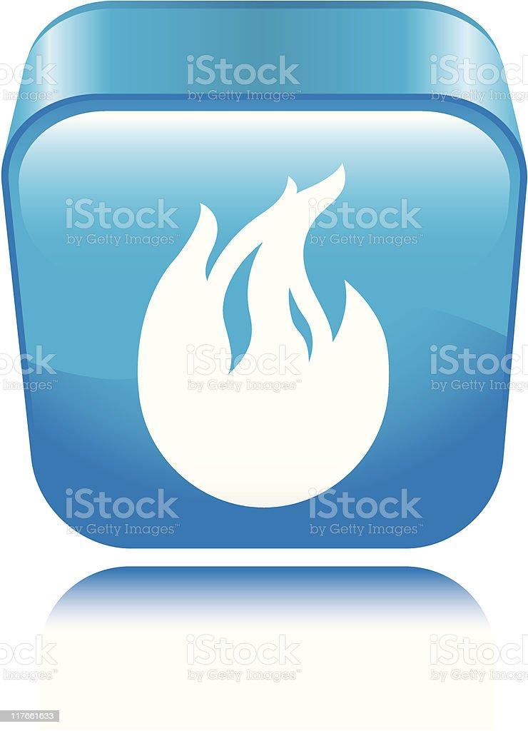 Fire Icon vector art illustration