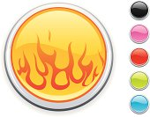 glossy fire icon, 5 other blank colour buttons included